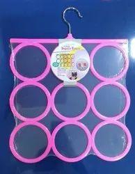 Multicolor Plastic 9 Holes Dupatta Hanger (Random Color)