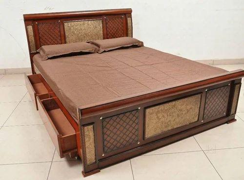 Teak Wood And Double Wooden Bed Rs 25000 Piece Parekh Enterprises