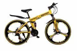 Ferrari Yellow Foldable Cycle