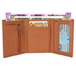 Leather try fold Wallet