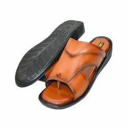 Tan SYNTHETIC Black Sands Men Slipper, Size: 7-10
