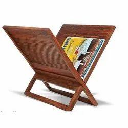 Artisanns Guild Foldable Wooden Magazine Rack