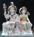 Shiva Parvati Marble Statue
