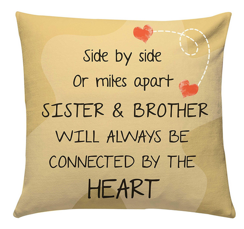 Giftsbymeeta Bro Sis Love Cushion At Rs 425 Piece Couch Pillow