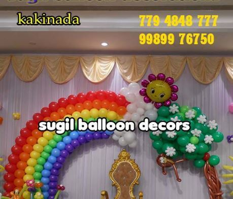 Rainbow Theme Balloon Decoration Service