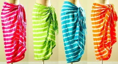0efadcd71bd46 Tie Dye Beachwear Sarong, Sarongs | Kartarpura Industrial Area ...