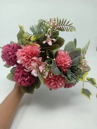 Artificial Flowers Peach/Pink/White F2
