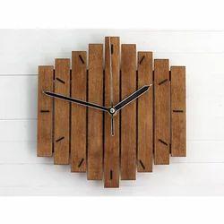 Analog Polished Wooden Clocks
