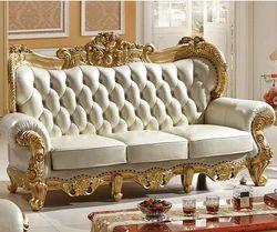 Wooden Carved Sofa Set In Saharanpur लकड़ी का नक्काशीदार