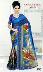 Black rangoli fancy saree