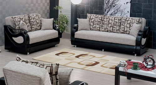 Black Fabric Sofa Set Sathya Corporation Id 10257774912