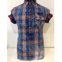 Denim Checks Casual Shirt