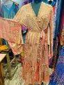 Women Casual Wear Silk Vintage Dress, Size: Xl