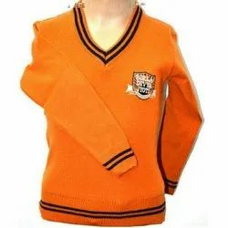 Orange Daffodil School Sweater