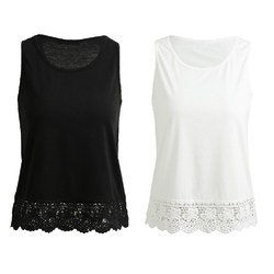 Black And White Ladies Plain Casual Top