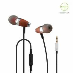 Celestech Mobile Earphones With In Built Mic (Brown), Model No.: CTES60W