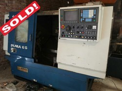 Used 1250mm Length CNC Turning Center Fanuc Control - S  R