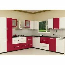 L Shape Fancy Modular Kitchen