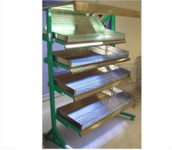 Vegetable Rack,SS Tray With Powder Coated Frame