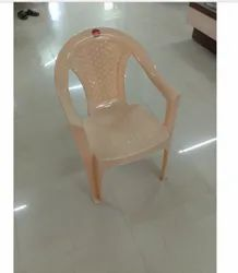 G Ten With Hand Rest (Arms) Cream Plastic Chair
