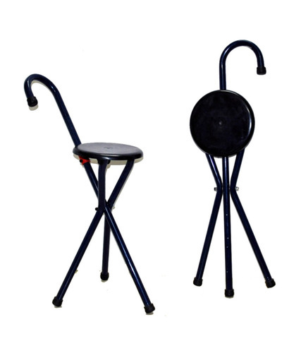 Magnificent Foldable Walking Stick Cum Chair Pabps2019 Chair Design Images Pabps2019Com