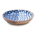 Food Safe Round Enamel Wooden Small Bowl