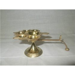 Brass Panch Aarti Diya