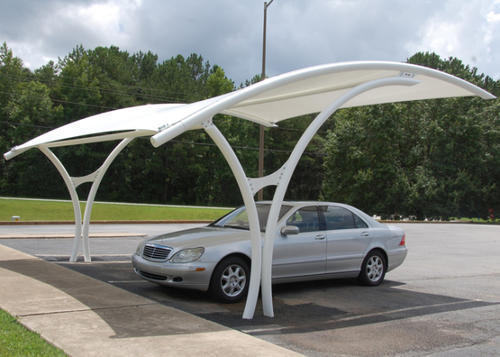 Car Parking Roofing Shed At Rs 220 Square Feet क र प र क ग ट स ल स ट रक चर Sanvi Fibre Glass Ind Kaithal Id 17787870755