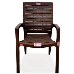 Avro Roma Weather Brown Heavy Duty Plastic Chair, Weight: 4 Kg