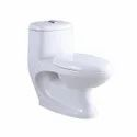 Closed Front White One Piece Water Closet For Bathroom Fitting