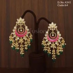 Traditional Meenakari Hanging Chandelier Earrings