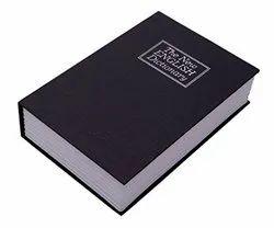 Novelty Book Safe Cash Box Metal With Number Combination Lock_ig22_blk
