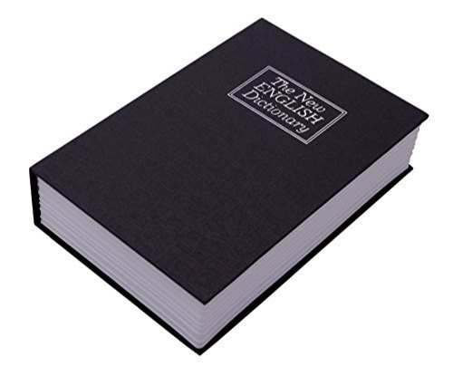 5473e2da0706 Novelty Book Safe Cash Box Metal With Number Combination Lock_ig22_blk
