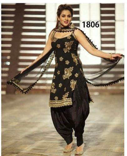 e98e54d04a Maroon Embroidered Ladies Patiala Suit, Rs 500 /piece, Sandhya ...
