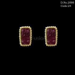 Fancy Druzy Stone Stud Earrings