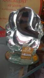 Transparent Large Glass Ganesh Idol