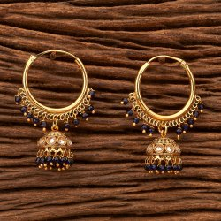 Festival Girls Antique Bali Jhumkis With Gold Plating 200321