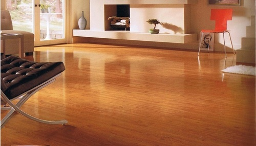 Brown Hdf Wooden Flooring Service Rs 400 Square Feet