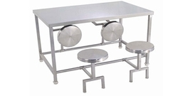 RB Panchal Stainless Steel 4 Seater SS Dining Table, Shape: Rectangular