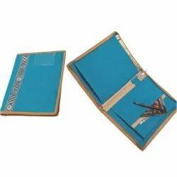 Sky Blue Jute Folder