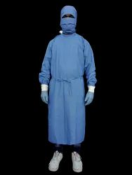 Surgeon Gown Cotton Blue Casement  Mill Made Vat Dyeing Fabric