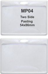 MP04 Two Side Plastic ID Card Holder