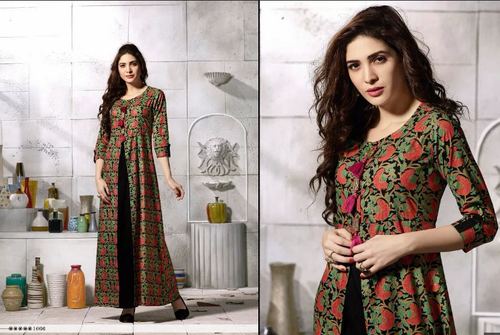 Cotton Printed Western Gowns 1a8dbc426