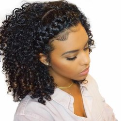 Curly 14 Inches Frontals With Baby Hair in Front