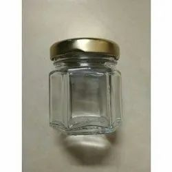 45 ml Hexagonal Glass Jar