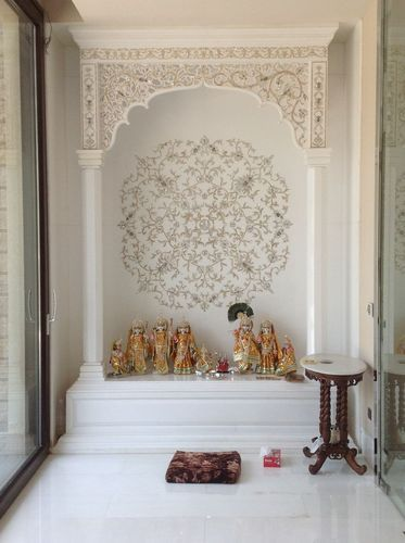 Corian temple design in patparganj delhi id 14801751388 - Wall mounted wooden temple design for home ...