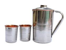 Magentic Silver Copper Inside Flask, Capacity: 1000mL
