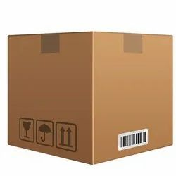 Square Brown Heavy Duty Carton Plain 7ply Corrugated Box, for Packaging