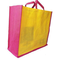 Yellow, Pink Non Woven Plain Carry Bag