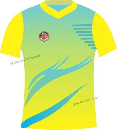 5f3e92639da Dry-Fit Men Yellow T-shirts With Sky-Blue Sublimation